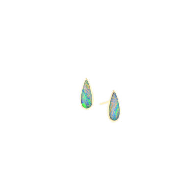 14 KT yellow gold Earring with inlay