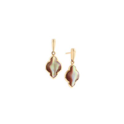 14 KT rose gold Earring with inlay