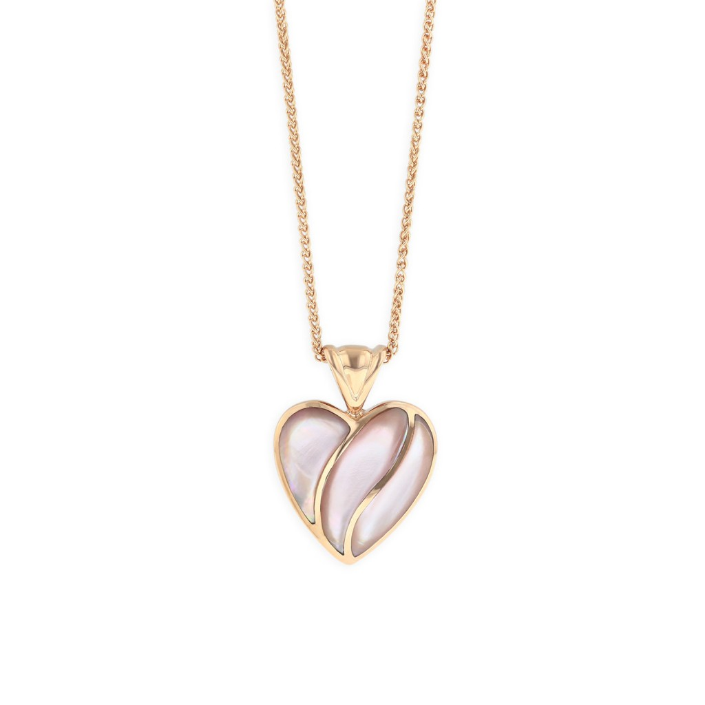 14 KT rose gold Pendant with inlay 1