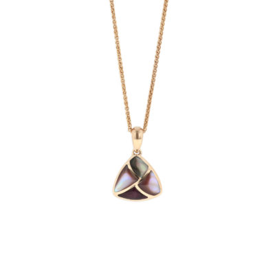 14 KT rose gold Pendant with inlay