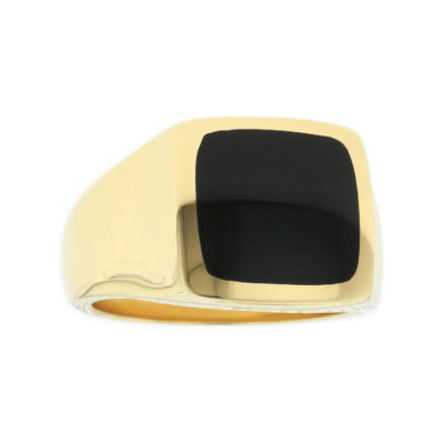 14 KT yellow gold Ring with inlay