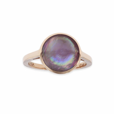 14 KT rose gold Ring with inlay