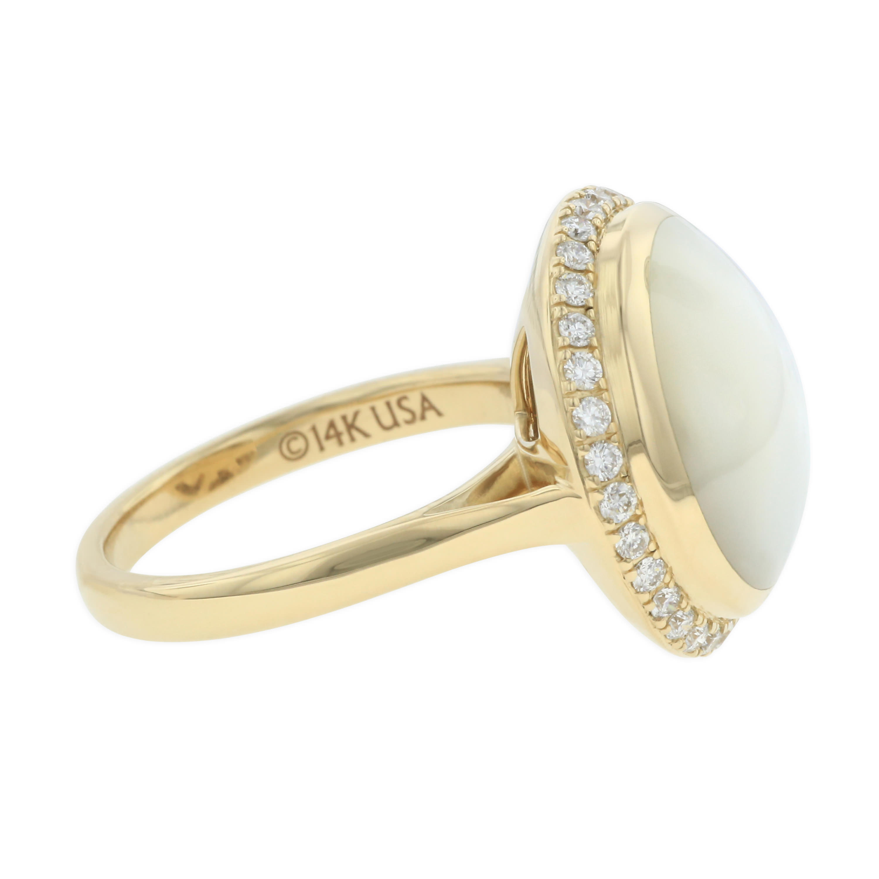 14 Kt Yellow Gold Ring With Inlay And Diamonds  Kabana. Birthstone Engagement Rings. Urn Necklace. Mother Child Pendant. Racing Bracelet. Layer Rings. Mum Bracelet. Effy Pendant. 2ct Rings
