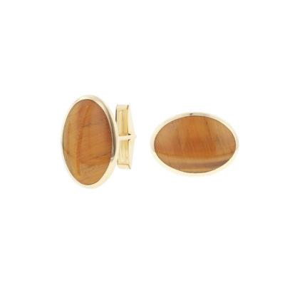 14 KT yellow gold Cufflinks with inlay