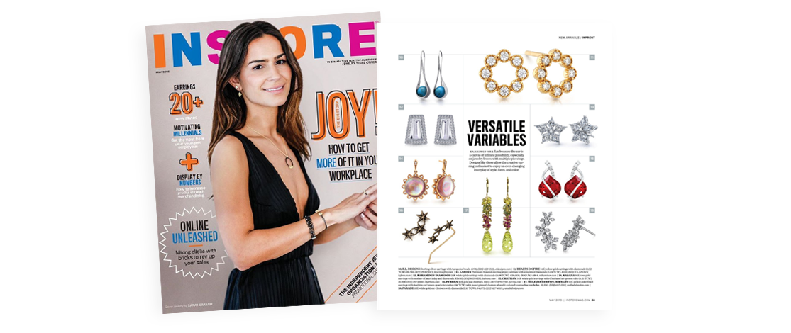 instore magazine kabana sun earrings feature